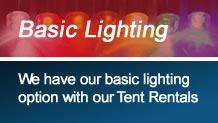 Party Lighting Options with Tent Rental